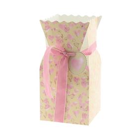 Bouquet box Field of Love 13x13x26cm FSC Mix roze