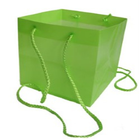 SQUARE CARRYBAG 6.25X6.25X6.25 IN GREEN