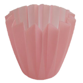 Cupcake container 4 in light pink (rose)