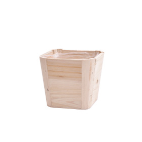 Pot Tim Square 13.5x13.5 H13cm natural