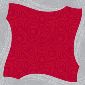 Wintermist 24x24in red