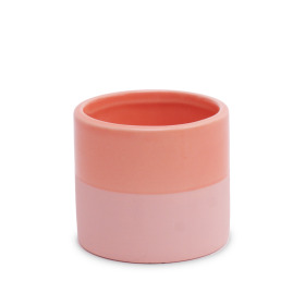 Ceramic Pot Soft Touch 5in Coral Blush