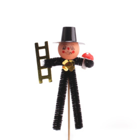 Chimney sweeper 11cm on 50cm stick black