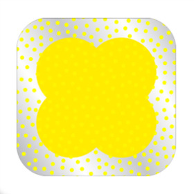 Dots Sheet 24x24 in yellow