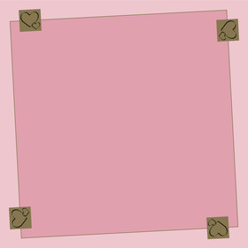 Be Loved 24x24in pink H3