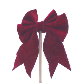 Bow Gabbana 3.5cm on 50cm stick burgundy