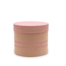 Hat box Duo Lines Ø15xH13cm pink
