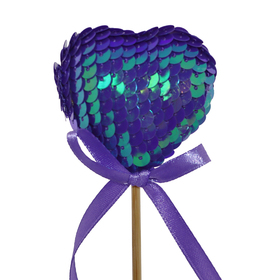 Heart Boost 5cm on 50cm stick lilac