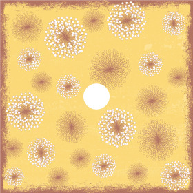 Flower Field 24x24 in yellow H3