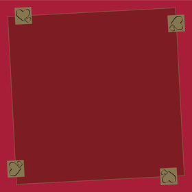 Be Loved 24x24in red H3