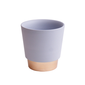 Ceramic Pot Elegance 5in blue/gray