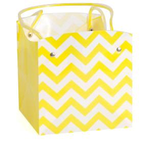 Carrybag waterproof folded Chevron 15x15x15cm yellow