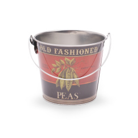 Zinc bucket Old Fashioned Peas Ø12.8 H11.5cm