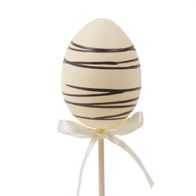Chocolate Egg 6cm on 50cm stick cream