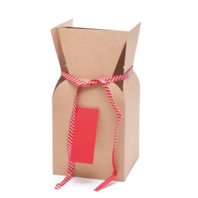 Bouquetbox Greenpack 13/13x13/13x26cm red