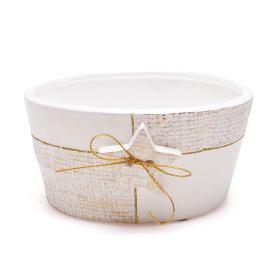 Ceramic bowl Sirius 16cm white
