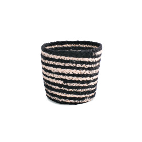 Pot basket Black&White Ø13 H12.5cm