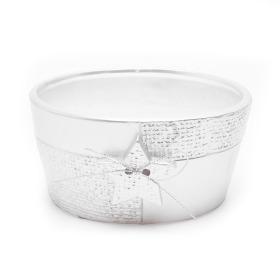 Ceramic bowl Sirius 16cm silver