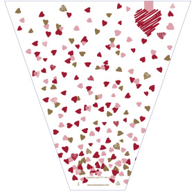 Confetti Love 21x14x4in red/pink
