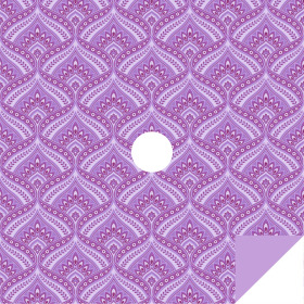 Jasmin 24x24in purple H3