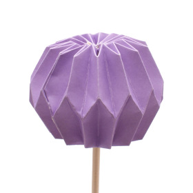 Pompon 7.5cm on 50cm stick lilac