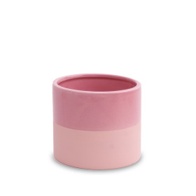 Ceramic Pot Soft Touch ES6 Rustic Pink