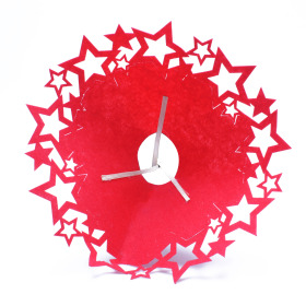 Bouquet holder Punched Stars 20cm red