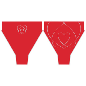 Sleeve Eternal Love 17in red