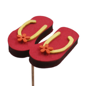 Flip Flops 3 in on 20 in stick red