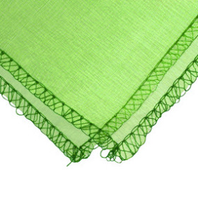 Organza with edge 24x24 in green with 3 in hole