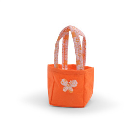 Carrybag Butterfly Felt 9.5x9x11cm orange