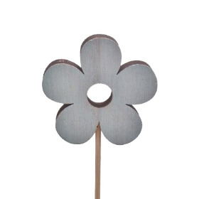 Flower Power 8cm on 50cm stick blue