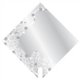 Sleeve Carré Classic 40x40cm silver/white