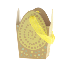 Draagtas Egg Scramble 12x9,5x12cm FSC Mix geel