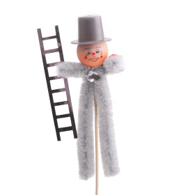 Chimney sweeper 20cm on 50cm stick silver