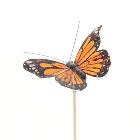 Vlinder Atalanta 9cm op 50cm stok oranje