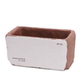 Ceramic Brick 14,5x8 H7cm white