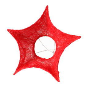 Bouquet holder Sisal Star 25cm red