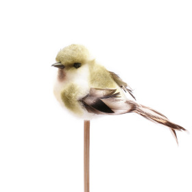 Bird Tommy  6.5cm on 50cm stick green