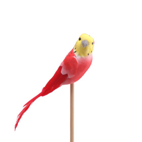 Bird Coco 14.5cm on 50cm stick red