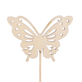 Butterfly Memories 7cm on 50cm stick natural