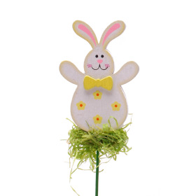 Happy Rabbit 8cm on 15cm stick yellow