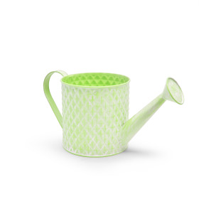Zinc Watering can Diamond Ø14.3 H14cm washed green