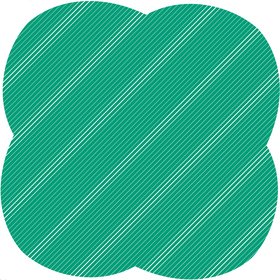 Sheet Stripes&Hypes 80x80cm green
