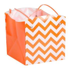 Carrybag waterproof folded Chevron 15x15x15cm orange