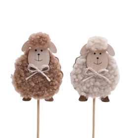 Spring Sheep 7cm on 50cm stick assorted x2