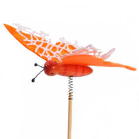 Artline Butterfly 9cm on 50cm stick orange
