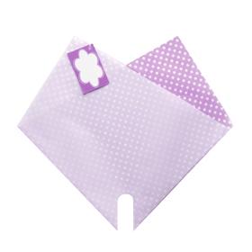 Hoes Doublé Dots Mini 27x27cm lila