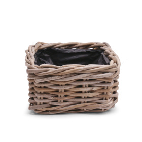 Basket Rattan Cottage 23x23 H12cm
