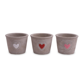 Ceramic Pot Amuri ES9 assorted x3